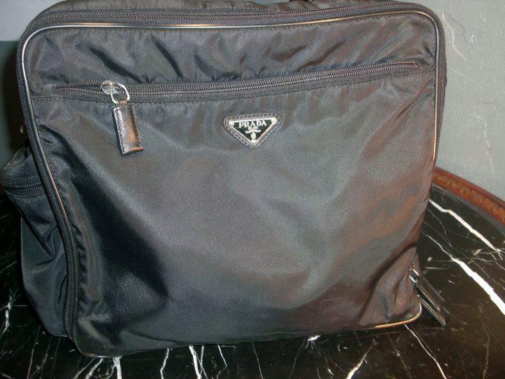 a1d369c8 PRADA Briefcase Nylon Soft Black Laptop Work Business Bag Men